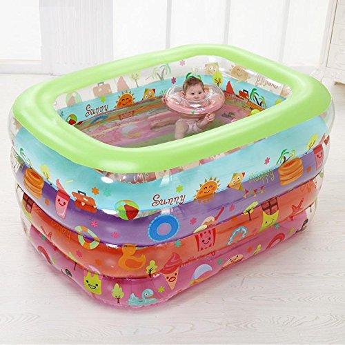 Robe Santa (FACAI888 Kinder aufblasbare Schwimmbecken mit faltender Badewanne im Freien Spiel-Pool-Wanne ,)
