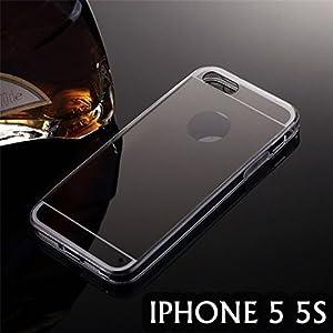 Coque effet miroir noir luxe iphone 5 5s etui gel tpu for Effet miroir photo iphone