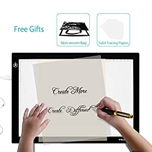 huion usb led table lumineuse tablette portable lumineuse dessin luminosit r glable l4s amazon. Black Bedroom Furniture Sets. Home Design Ideas