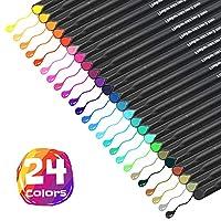 Arcobis 24 Fineliner Journal Planner Color Pens Fine Point Markers Fine Line Drawing Pen for Journal Planner Note Calendar