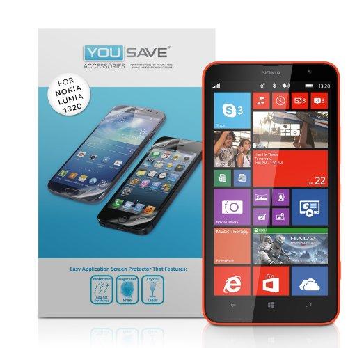 yousave-accessories-nokia-lumia-1320-displayschutzfolie-funf-stuck