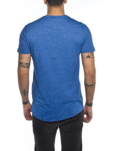 Tommy Jeans Herren T-Shirt, DM0DM03622 Blau (Nautical Blue 407)