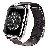 Smart Watches Beste Deals - AIWatch Z50 Smart Watch mit TF / SIM Bluetooth für iOS und Android-Handy (Schwarz)