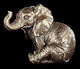 Kleine sitzende Elefanten Figur - Nelly - Veronese