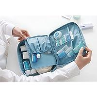 Contever® moda Donna Borsa da Viaggio Sacchetto della lavata Pacchetto multifunzionale bagagli Trucco Cosmetici Organizer Tasca -- Blu