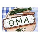 Tischset mit Namen ''Oma'' Motiv Schnittlauch - Tischunterlage, Platzset, Platzdeckchen, Platzunterlage, Namenstischset