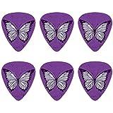 Selecciones de guitarra Butterfly Artsy Purple Novelty de calibre medio - Juego de 6