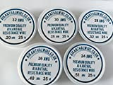 Kanthal A1 Type Resistance Wire Pack - 'Big 5 Starter Pack' - 32/30/28/26/24 AWG - 5 x 25 Metre Spools