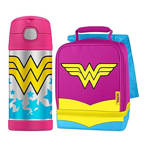 Thermos Funtainer 12Ounce Vakuumisolierung kalte Getränkeflasche Mittagessen Kit - Wonder Woman