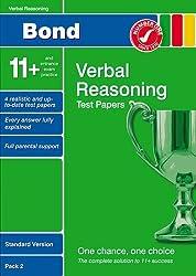 Bond 11+ Test Papers Verbal Reasoning Standard Version Pack 2