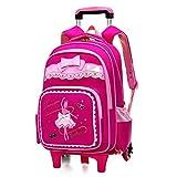 Trolley Bag Cadeaux Rentree Scolaire Sac à Dos Scolaire avec roulettes Fille...