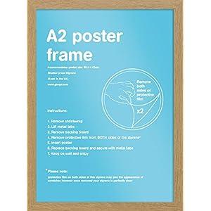 Bilderrahmen A2 Eiche - Holz - 42 x 59.4 cm | PostersDE