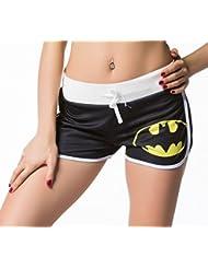 Cody Lundin®Pretina elástico y lazo Wonder woman/Superpersona/Bate Yoga ejecutando cortos de mujeres