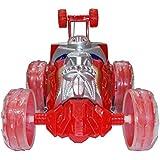 Kotak Sales Kids Transformer 360 Degree Spin Flips Stunt Car With Dazzling LED Lights Music Remote Control Vehicle (5inch Size)