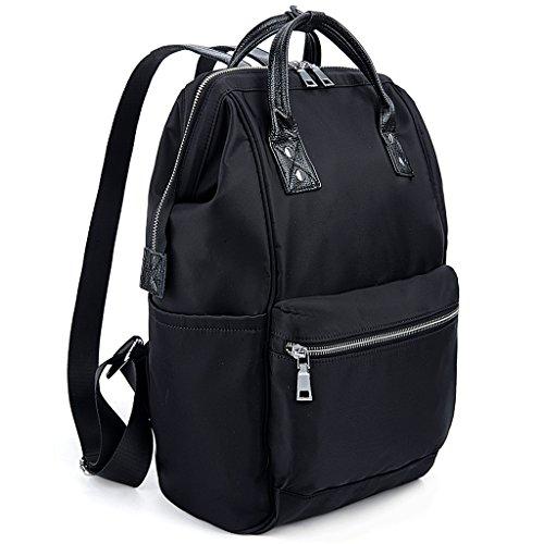 UTO Zaino Scuola Neutro Borsa da Viaggio per Scuola in nylon borsa a mano Nero