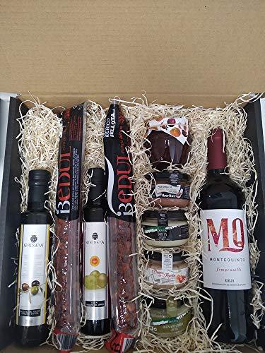 Cesta gourmet regalo ⭐ especial y original ⭐ para salir de lo común, regalo cumpleaños o cualquier evento.