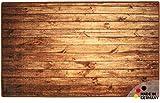 matches21 Badezimmerteppich Badeteppich Badematte Holz dunkel/Holzoptik braun 60x100x1,0 cm Badvorleger rechteckig waschbar