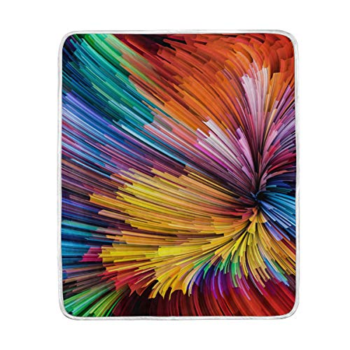 CPYang Dynamic Rainbow Color Series Überwurfdecke, weiche Mikrofaser, Geschenk, Reisebett, Sofa, Decke, 127 x 152 cm, für Kinder, Jungen, Mädchen, Damen und Herren - Rainbow Dynamic-serie