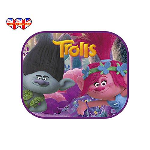 Preisvergleich Produktbild Original trolls|dreamworks Auto Sonnenschutz für Kinder, UV-Schutz