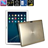 4G Tablet PC - Android 7.0, support 4G, processeur Octa-Core, 2 Go de RAM, écran HD, 6000mAh, WiFi, 10,1 pouces 2 + 32G Top 2 millions 5 millions Lanspo, envoyer des cadeaux de famille d'amis (Gold)