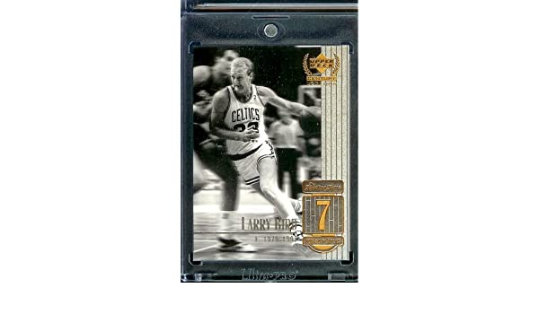 Upper Deck 1999 Century Legends carte#7 Ballon de basket Boston Celtics Larry Bird