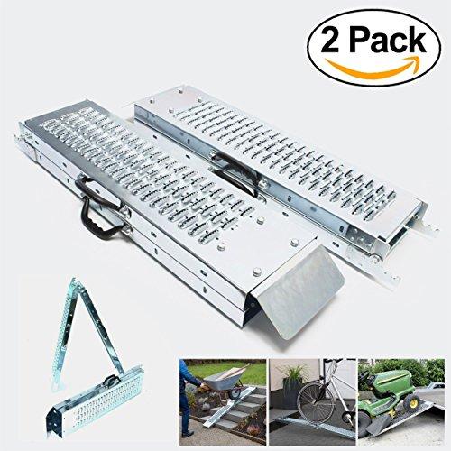 Rampa plegable | Rampas de carga 400 kg max | Rampa plegable para Moto y rampa de acceso | Resistente y conveniente | Tamaño 160 x 22.5x 4.5cm