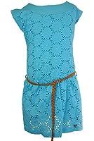 Pampolina Kleid mit Gürtel Beach Life Cyan