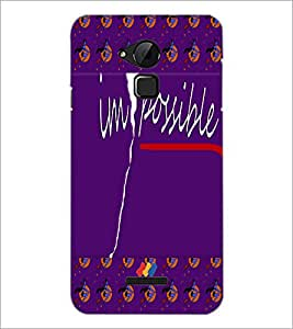PrintDhaba Impossible D-5009 Back Case Cover for COOLPAD NOTE 3 LITE (Multi-Coloured)