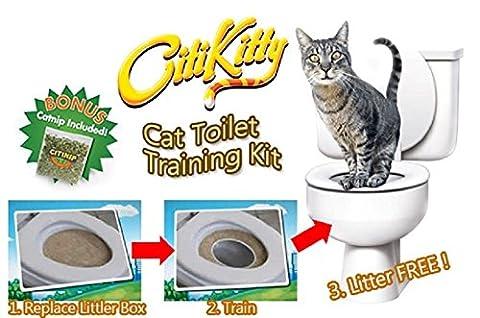 Amazing K Katzentoilette Katzenklo Set Training Sitz Töpfchen Zug System Pet Kitty + Cat Nip