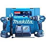 Makita DLX2005 Cordless 18 V Li-ion Kit with 2 x 3 Ah Batteries, 2 Pieces