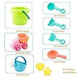 STOBOK 10 Piezas de Juguetes de Playa para niños, baños de plástico, Juegos de Arena para niños pequeños