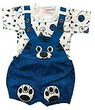 BabyMart Baby Boy's Romper (Dungaree_02_Blue_6-12 Months)