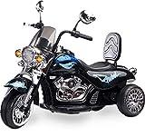 Caretero Toyz Rebel Schwarz Elektro Motorrad Kindermotorrad Kinderfahrzeug