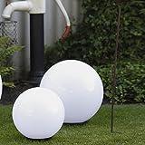 2 bagliore palla Set per il tuo Giardino Sfere in Ø30cm, Ø40cm Luci con 2m Cavo di gomma spina Luci da esterni da resistente agli urti Acrilico