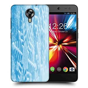 Snoogg Blue Xmas Printed Protective Phone Back Case Cover For Micromax Canvas Nitro 4G