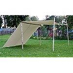 10ft x 10ft tarp TARPAULIN pre medival civil war canvas tent for Living history Reenactment bell frame knight 4