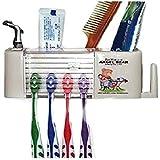 Angel Bear Rectangular Plastic Toothbrush Holder (White)-High Quality