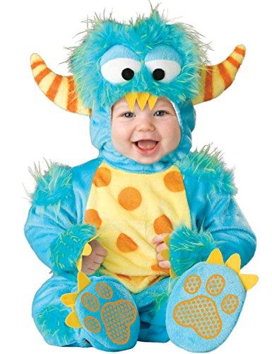 Kuscheliges Baby-Monster Kostüm türkis Gr. 68/74