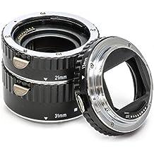 Impulsfoto - Tubo de extensión para macrofotografía para Canon EF y EF-S (3 piezas de 31 mm, 21 mm y 13 mm)