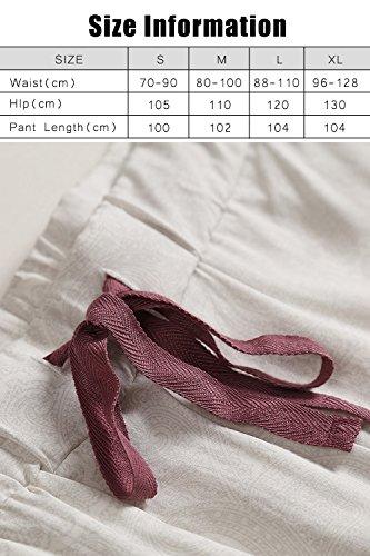 Dolamen Donna Pantaloni Pigiama Lungo Viskose, Pantaloncini Casuale biancheria da notte Cintura elastica il tempo libero di sonno Yoga Gli sport Bianca