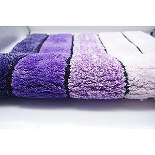 Badematte Rutschfeste Mikrofaser Duschdecke Super Soft für Badezimmer Schlafzimmer Küche 19,7 * 31,5 Zoll (50 * 80 cm) (Lila)
