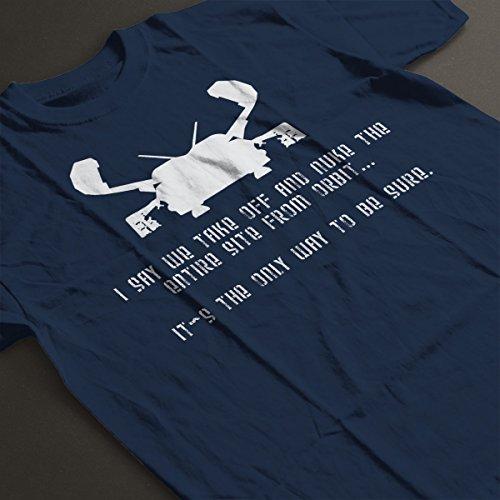 Say We Take Off Aliens Men's T-Shirt Navy Blue