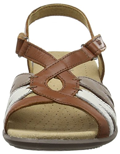 Hotter Flare, Sandales  Bout ouvert femme Brown (Tan Multi)