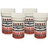4 x Professional Strength Flea Insect Killer Smoke Bomb Fogger - Pet Dog Cat Fleas Home