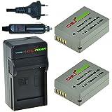 ChiliPower NB-10L Kit pour Canon: 2x Batterie (1100mAh) + Chargeur pour Canon Powershot G1 X, G1X G15, G16, SX40 HS, SX50 HS, SX40HS, SX50HS, CB-2LC