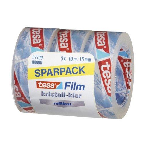 Sparpack tesa Film kristall klar, 10 m x 15 mm, 3 Rollen