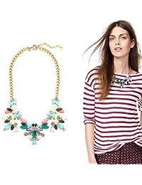 Sexyher SHWM130809N007 Halskette aus Kunststeinen, elegant, Mehrfarbig