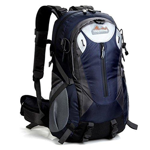 SZH&BEIB Outdoor-Wanderrucksack 40L Freizeit für Bergsteigen Tasche Schule Reise Camping E