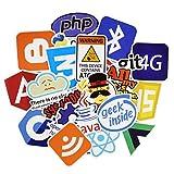 ⭐️ Top Stickers ! ⭐️ Lot de 50 Stickers Geek Informatique - Autocollant Top Qualité Non Vulgaires – Geek, Informatique - Customisation ordinateur portable, bagages, moto, vélo, skateboard… (#50-GEEK)