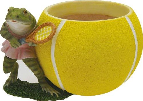 Cache-pot sportif grenouille tennisman cm.14 H.
